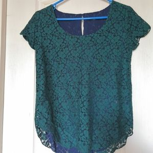 Aritzia Talula Betsy top in teal.